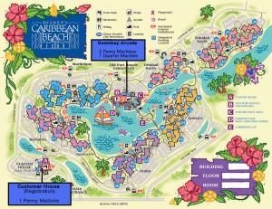 2016 Caribbean Beach Resort Map
